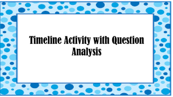 STAAR Timeline Activity with Question Analysis