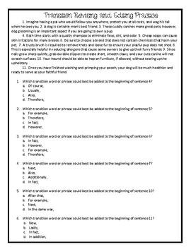 Staar Practice Revising And Editing Worksheets & Teaching ...