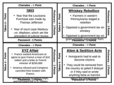 8th grade US History STAAR review game - set 2
