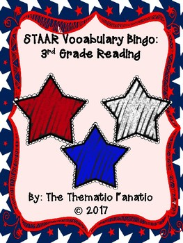 STAAR Vocabulary Bingo- 3rd Grade Reading