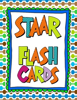 STAAR Vocabulary Flashcards for Key Concepts Review Centers Stations TEKS