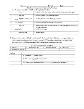 STAAR Vocabulary Practice
