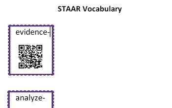 STAAR Vocabulary QR Code Activity