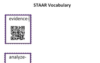 STAAR Vocabulary QR Code Activity