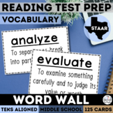 STAAR Vocabulary Word Wall