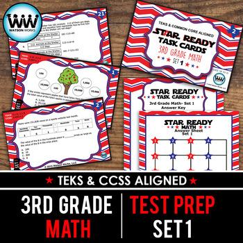 STAAR WARS 3rd Grade Math Task Cards ~ SET 1
