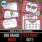 SET 1 - STAR READY 3rd Grade Math Task Cards - CCSS / STAAR / TEKS-aligned