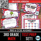 SET 1 QR Version - STAR READY 3rd Grade Math Task Cards - STAAR / TEKS-aligned