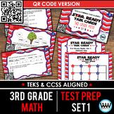 SET 1 QR Version - STAR READY 3rd Grade Math Task Cards - STAAR / TEKS-aligned