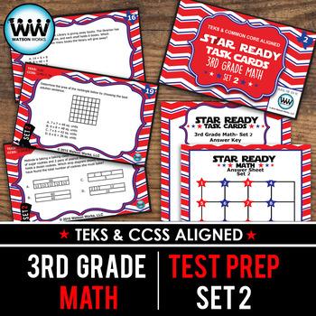 STAAR WARS 3rd Grade Math Task Cards ~ SET 2