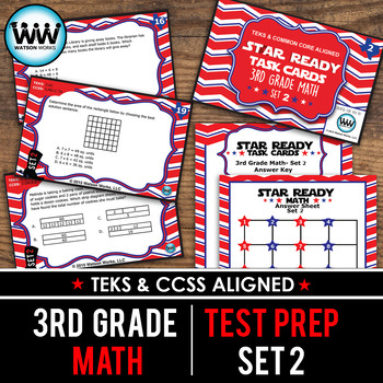 STAR READY 3rd Grade Math Task Cards ~ SET 2 {TEKS-aligned}
