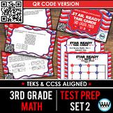 SET 2 QR Version - STAR READY 3rd Grade Math Task Cards - STAAR / TEKS-aligned