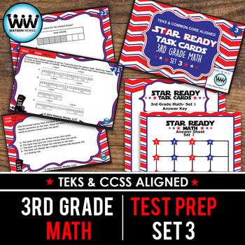 STAR READY 3rd Grade Math Task Cards ~ SET 3 {TEKS-aligned}