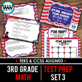 SET 3 - STAR READY 3rd Grade Math Task Cards - CCSS / STAAR / TEKS-aligned