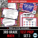 SET 3 QR Version - STAR READY 3rd Grade Math Task Cards - STAAR / TEKS-aligned