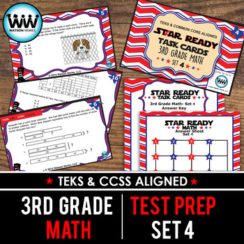 STAAR WARS 3rd Grade Math Task Cards ~ SET 4