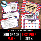 SET 4 - STAR READY 3rd Grade Math Task Cards - CCSS / STAAR / TEKS-aligned