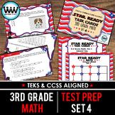 SET 4 - STAR READY 3rd Grade Math Task Cards - CCSS / STAAR / TEKS-aligned