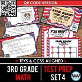 STAR READY 3rd Grade Math Task Cards ~ SET 4 ~ QR Code Version {TEKS-aligned}