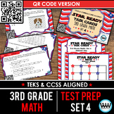 SET 4  QR Version - STAR READY 3rd Grade Math Task Cards - STAAR / TEKS-aligned