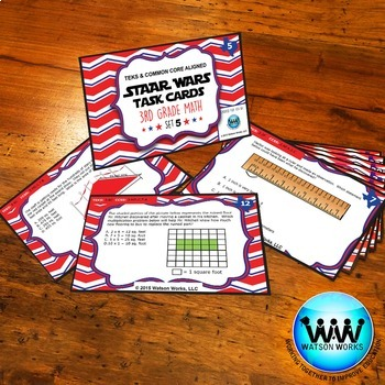 STAR READY 3rd Grade Math Task Cards ~ SET 5 {TEKS-aligned}