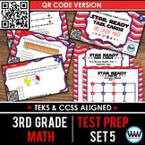 STAR READY 3rd Grade Math Task Cards ~ SET 5 ~ QR Code Version {TEKS-aligned}