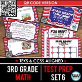 STAR READY 3rd Grade Math Task Cards ~ SET 6 ~ QR Code Version {TEKS-aligned}