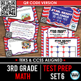 SET 6 QR Version - STAR READY 3rd Grade Math Task Cards - STAAR / TEKS-aligned