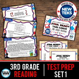 3rd Grade STAAR Reading Review Task Cards Set 1 New ELAR TEKS