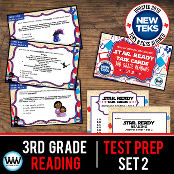 STAAR WARS 3rd Grade Reading Task Cards ~ SET 2