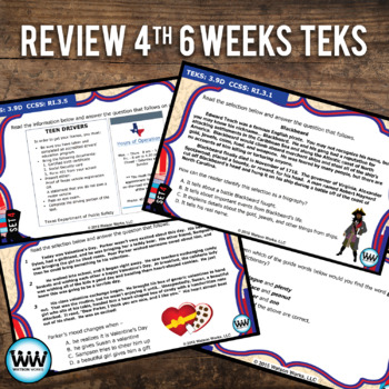 STAR READY 3rd Grade Reading Task Cards ~ SET 4 {TEKS-aligned}