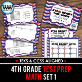 STAR READY 4th Grade Math Task Cards ~ SET 1 {TEKS-aligned}