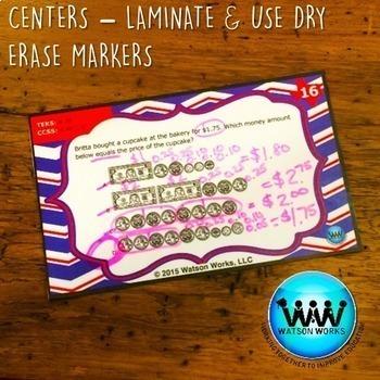STAR READY 4th Grade Math Task Cards ~ SET 1 {TEKS-aligned}