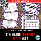STAR READY 4th Grade Math Task Cards ~ SET 1 ~ QR Code Version {TEKS-aligned}