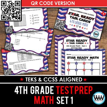 STAAR WARS 4th Grade Math Task Cards ~ SET 1 ~ QR Code Version