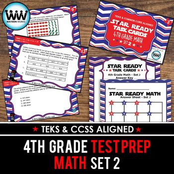 STAR READY 4th Grade Math Task Cards ~ SET 2 {TEKS-aligned}
