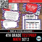 STAAR READY 4th Grade Math Task Cards ~ SET 2 ~ QR Code Version {TEKS-aligned}
