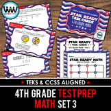 SET 3 - STAR READY 4th Grade Math Task Cards - CCSS / STAAR / TEKS-aligned