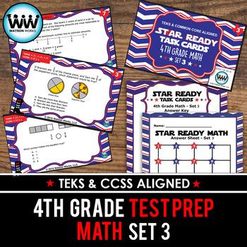 STAAR WARS 4th Grade Math Task Cards ~ SET 3