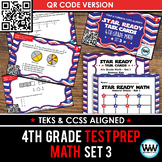 STAR READY 4th Grade Math Task Cards ~ SET 3 ~ QR Code Version {TEKS-aligned}