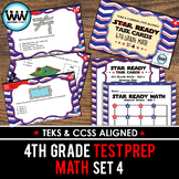 SET 4 - STAR READY 4th Grade Math Task Cards - CCSS / STAAR / TEKS-aligned
