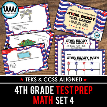 STAAR WARS 4th Grade Math Task Cards ~ SET 4