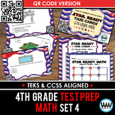 STAR READY 4th Grade Math Task Cards ~ SET 4 ~ QR Code Version {TEKS-aligned}
