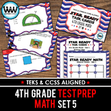 STAR READY 4th Grade Math Task Cards ~ SET 5 {TEKS-aligned}