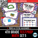 SET 5 QR Version - STAR READY 4th Grade Math Task Cards - STAAR / TEKS-aligned