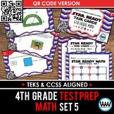 STAAR WARS 4th Grade Math Task Cards ~ SET 5 ~ QR Code Version