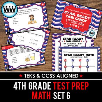 STAR READY 4th Grade Math Task Cards ~ SET 6 {TEKS-aligned}