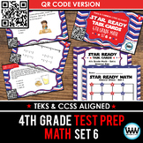 STAR READY 4th Grade Math Task Cards ~ SET 6 ~ QR Code Version {TEKS-aligned}