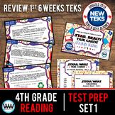 4th Grade STAAR Reading Review Task Cards Set 1 New ELAR TEKS
