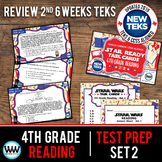 4th Grade STAAR Reading Review Task Cards Set 2 New ELAR TEKS